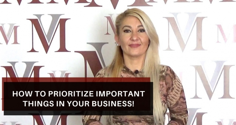 How to prioritize important things in your business!